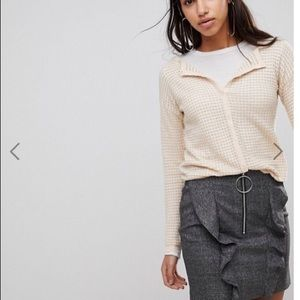 NWT Mango Textured Jersey Cardigan